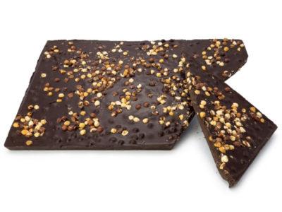 plaque de chocolat noir bio aux noisettes