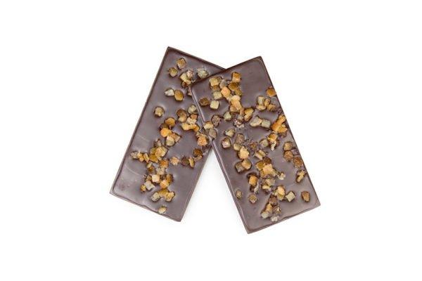 tablette de chocolat fondant bio aux orangettes