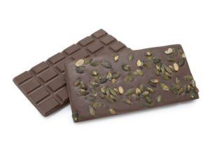 Tablette de chocolat nao au lait et aux graines de courge