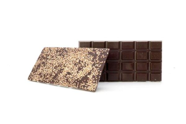 Tablette chocolat fondant aux graines de sésame