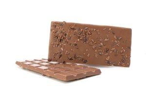 Tablette chocolat au lait aux éclats de cacao bio